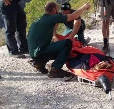 Hiker rescued Civil Protection