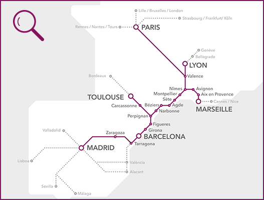 high speed train Spain to France