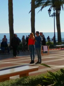 Filming in Nerja