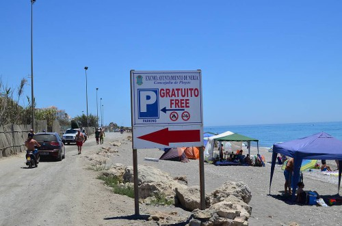 Car park El Playazo beach, Nerja