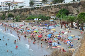 El Salon beach, Nerja