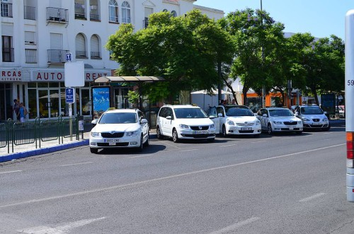 Taxi rank, Nerja bus station