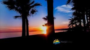 sunset at el morche beach, torrox, costa del sol