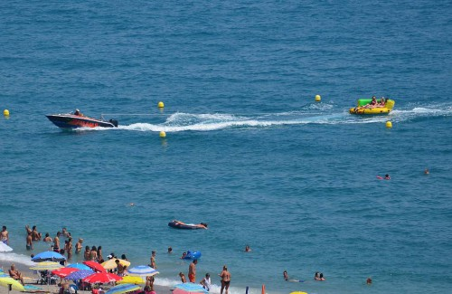 Banana boat, Burriana beach, Nerja