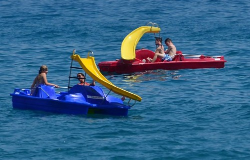 Pedalo, Burriana beach, Nerja