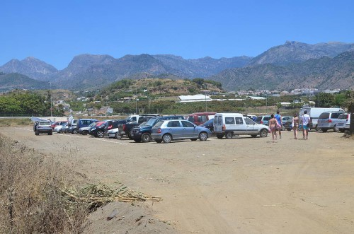 car park, El Playazo beach, Nerja
