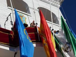 Flag raising, Nerja