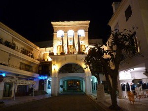 Nerja Town Hall by night