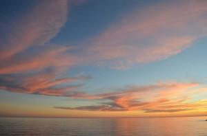 sunset, Nerja