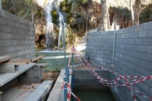Fenced waterfall, Nerja