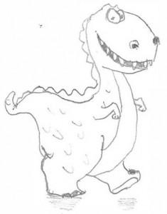 Smiley Dinosaur by Steve Jones